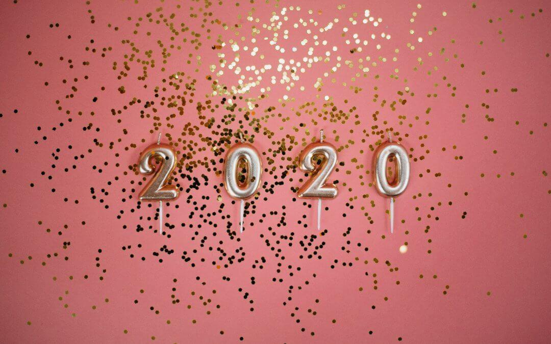 year 2020 balloons