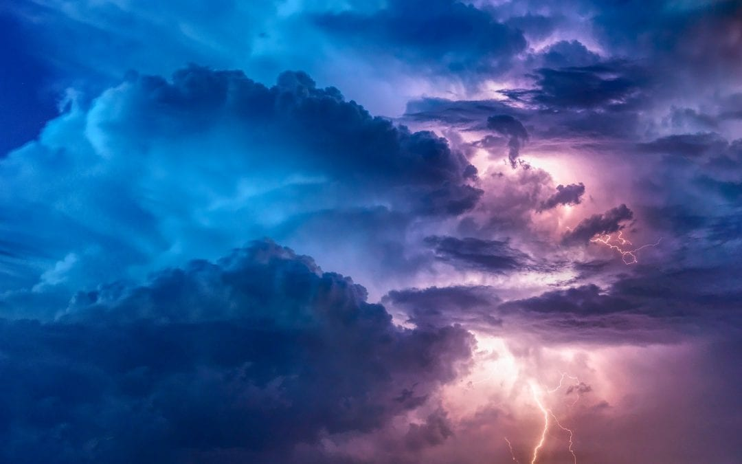 Clouds and lightening