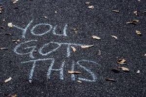 writing on pavement